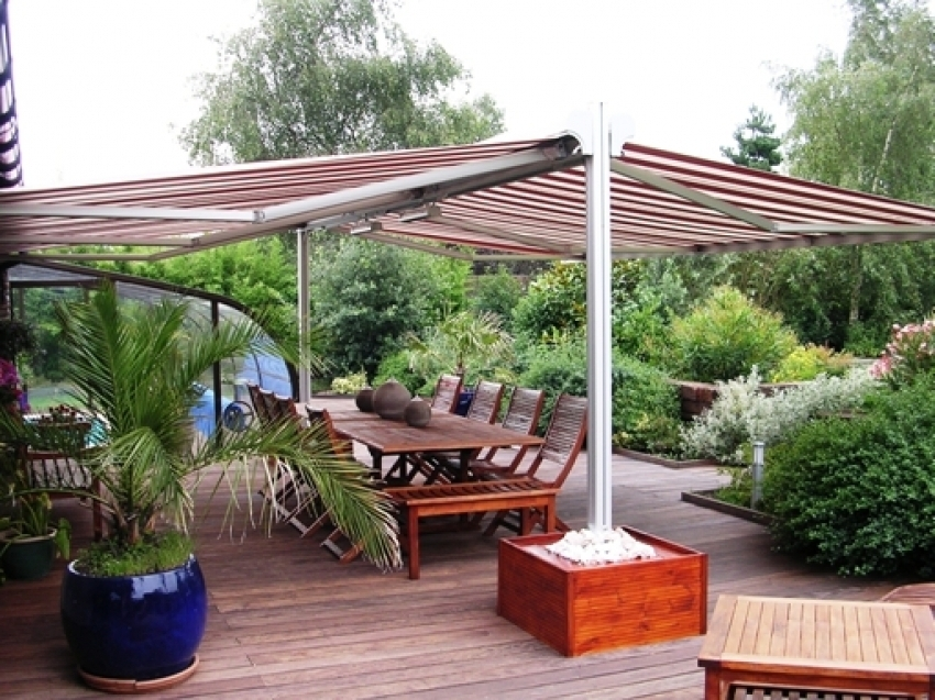 Double Awning Free Standing Retractable Awnings Free Standing Awnings - Amaracas
